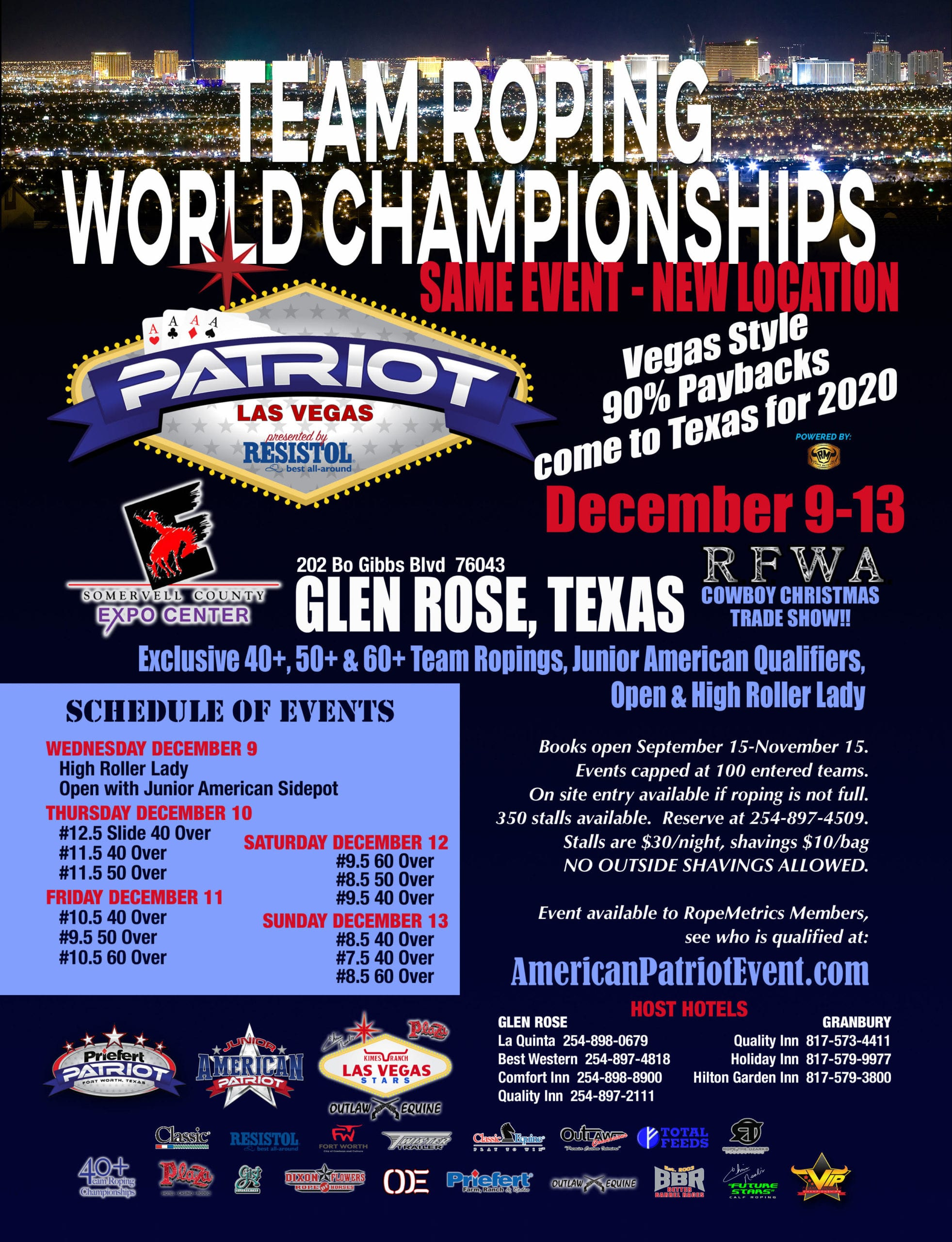 FINAL_Vegas moves to Glen Rose- Patriot 2020 Western Finale
